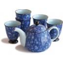 Conjunto de té Saikai.Tetera de 450 ml y 5 tazas.